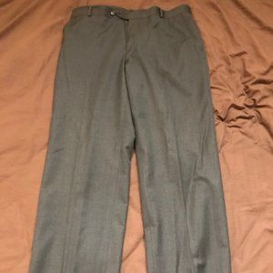 Stafford Travel Slim Fit Suit Pants Charcoal Gray